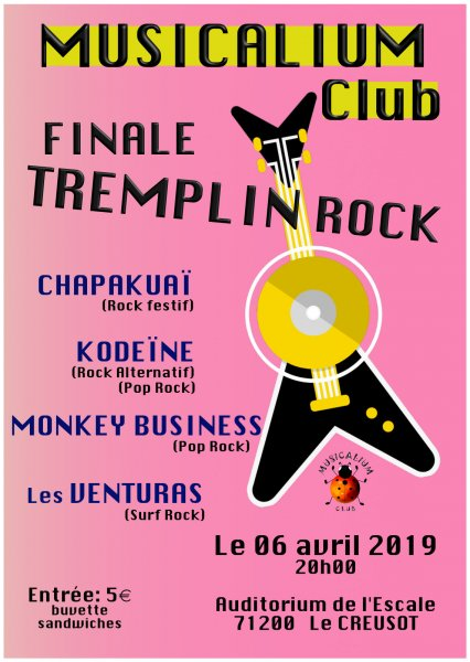 MUSICALIUM Club Finale Tremplin Rock Le Creusot 6 avril 2019